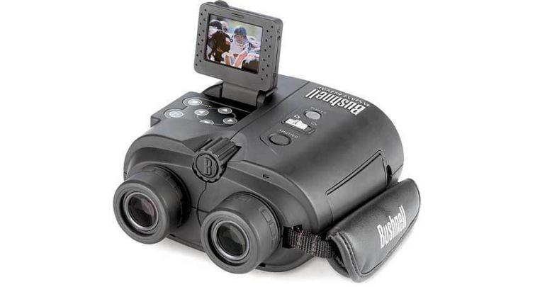 Бинокль Bushnell 8х32 Instant replay с видеокамерой 3,2 мп