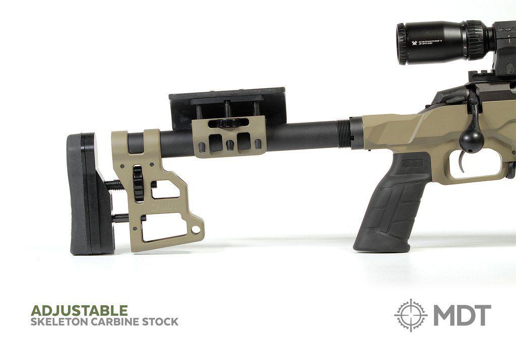 Приклад MDT Skeleton Carbine Stock 10.75''. Материал – алюминий. Цвет – песочный