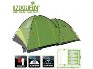 Палатка кемпинговая Norfin Pollan 4