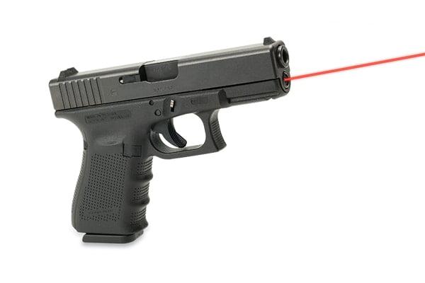 Лазерный целеуказатель интегрированный под Glock 19 Gen 4 (красный)