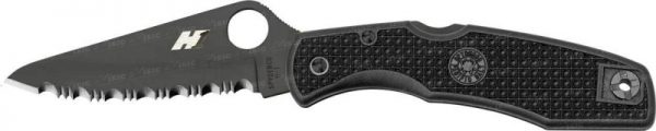 Нож складной Spyderco Pacific Salt Spyderedge ц:black