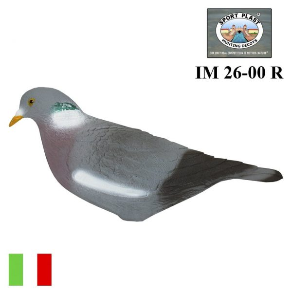 Чучело голубя на колышке кормящийся Sport Plast полукорпусные