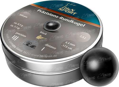 Пули пневматические H&N Rund Schwarz (черные)4,5 мм 500 шт. 0,5 гр.