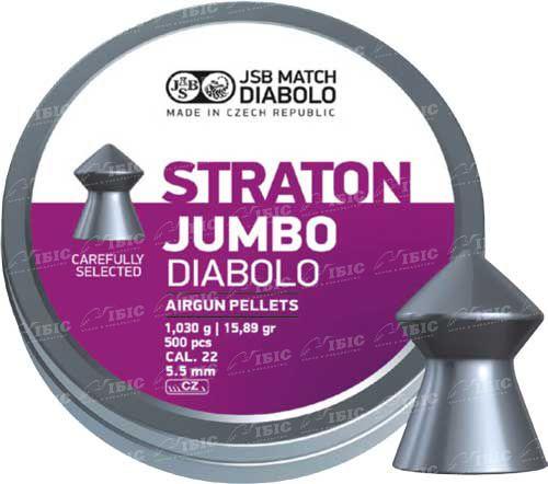 Пули JSB Diabolo Jumbo Straton 5,5 мм 500 шт. 1,030 гр.