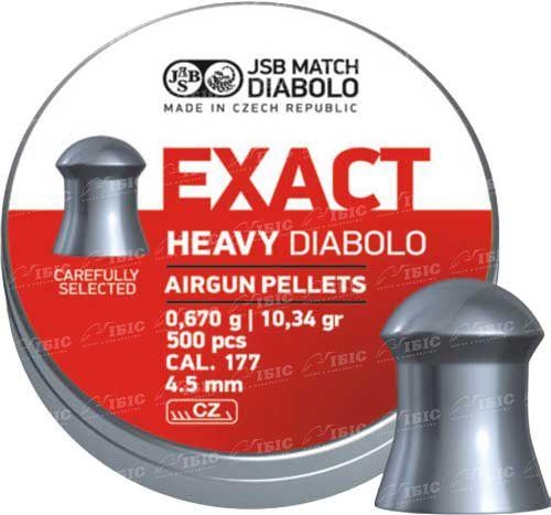 Пули JSB Diabolo Exact Heavy 4,52 мм 500 шт. 0,67 гр.