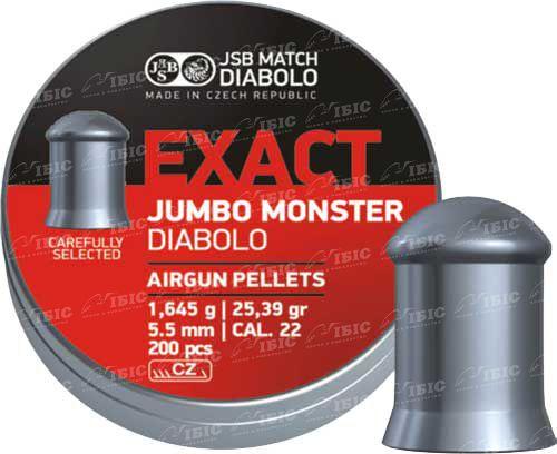 Пули JSB Exact Jumbo Monster 5,52 мм 200 шт. 1,645 гр.