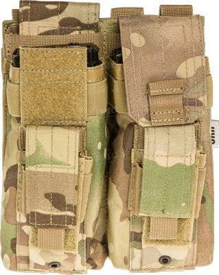 Подсумок Skif Tac для 2-х магазинов АК/AR, 2-х пистолетных multicam