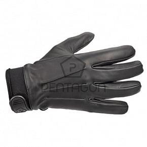 Перчатки кожаные Pentagon Tactical Police черные