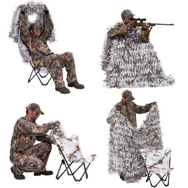 Засидка Ameristep Cover/ Predator Hunter 3D Chair & Cover sistem AP Snow