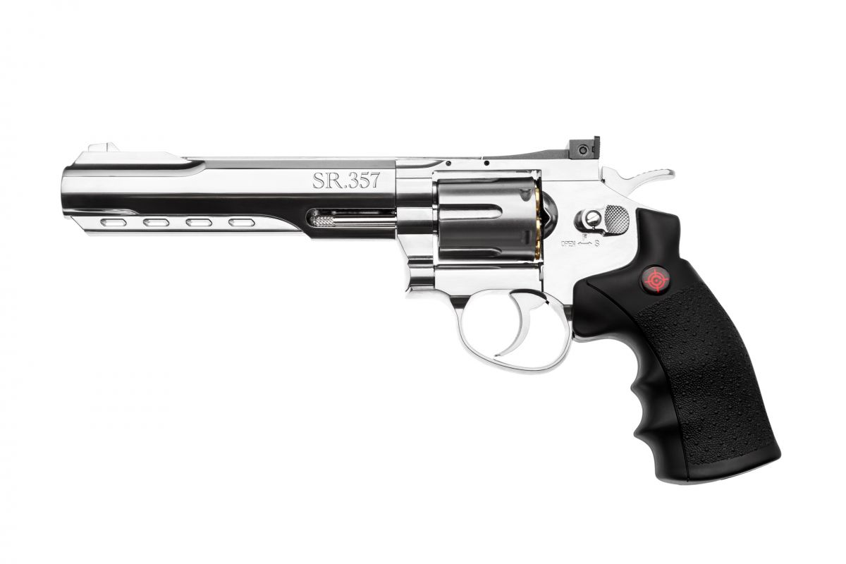 """Револьвер пневматический Crosman """"357 Silver"""" кал.4,5"""