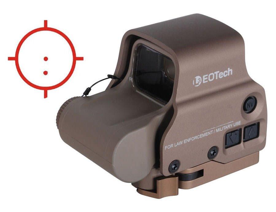 Прицел коллиматорный EOTech EXPS3 65MOA/1MOA (две точки) песочного цвета