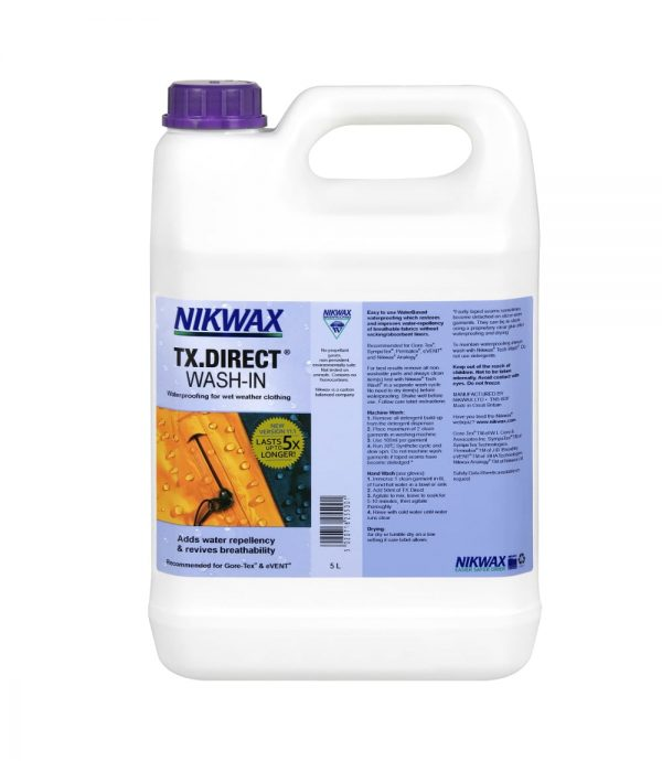 Пропитка для мембран Nikwax TX. Direct Wash-in 5l