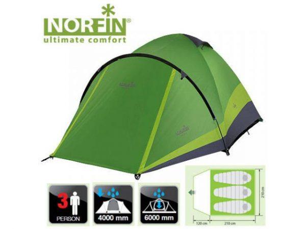 Палатка двухслойная Norfin Perch 3