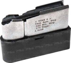 Магазин для карабина Roessler TITAN 6 кал. 7mm Rem.Mag./.300 Win.Mag./.375Ruger/6.5×68. Емкость – 4 патрона