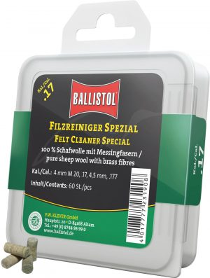 Патч для чистки Ballistol войлочный специальный для кал. 17. 60шт/уп