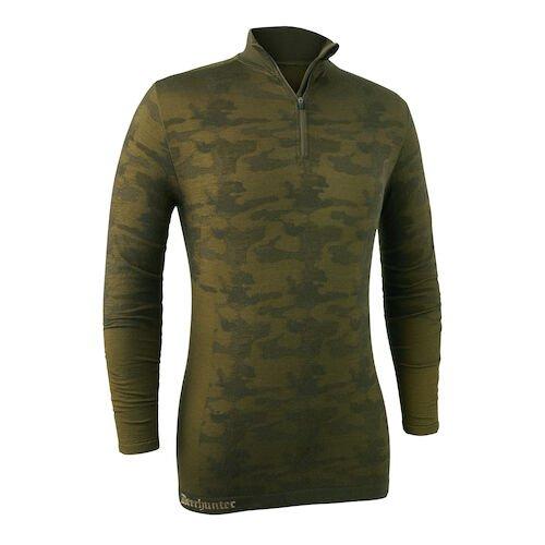 Термокофта Deerhunter Camou Wool Undershirt zip-neck