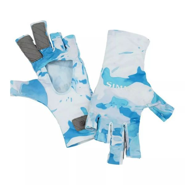 Перчатки Simms SolarFlex SunGlove Cloud Camo Blue