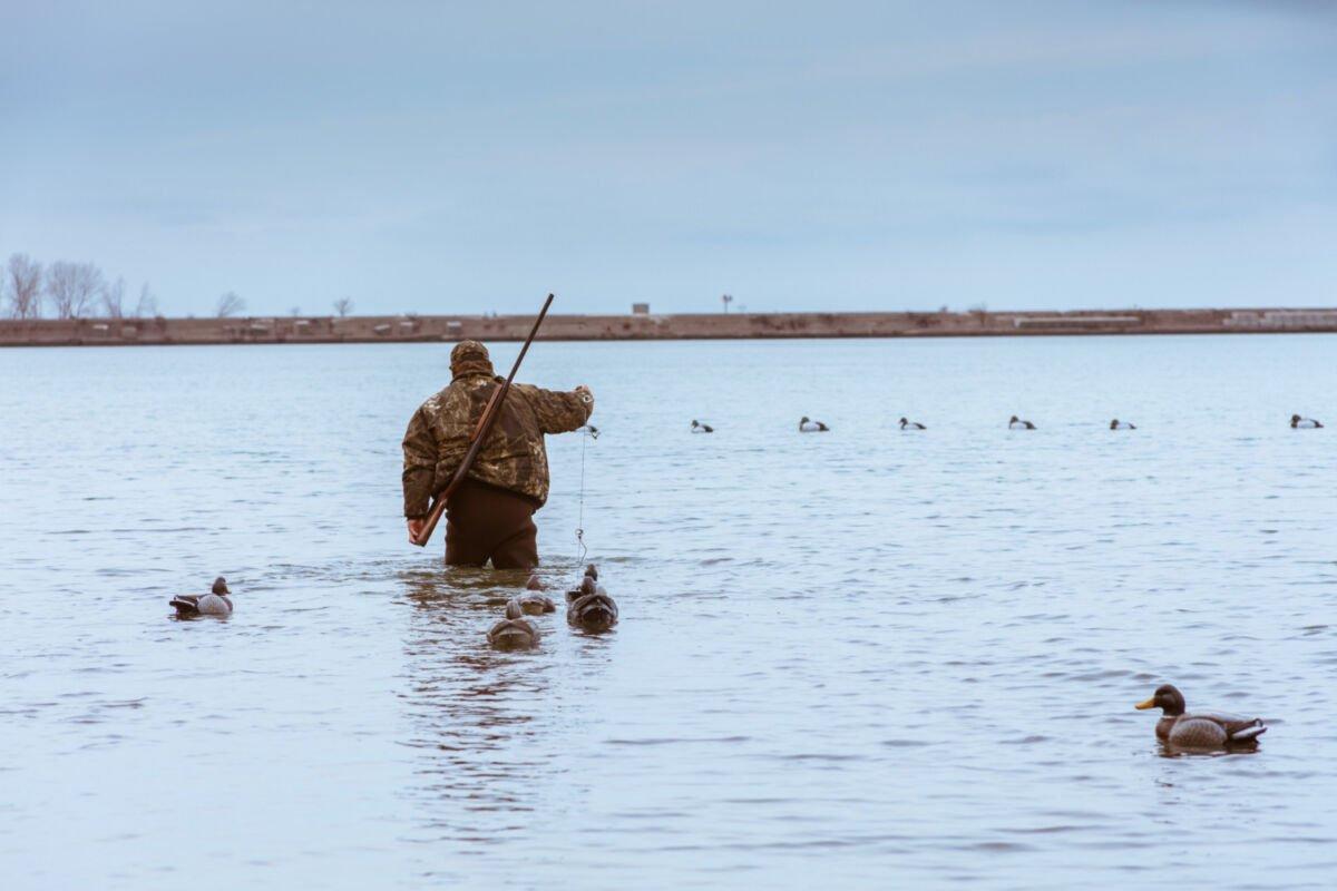 охотник на воде