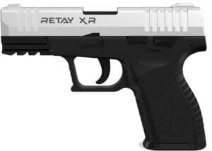 Пистолет стартовый  Retay XR кал. 9 мм. Цвет – chrome.