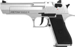 Пистолет стартовый Retay Eagle X кал. 9 мм. Цвет – chrome.