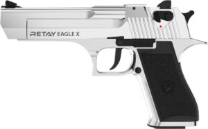 Пистолет стартовый Retay Eagle X кал. 9 мм. Цвет – nickel