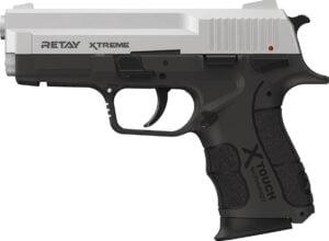 Пистолет стартовый Retay XTreme кал. 9 мм. Цвет – chrome.