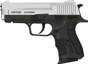 Пистолет стартовый Retay XTreme кал. 9 мм. Цвет – nickel.