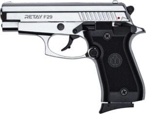 Пистолет стартовый Retay F29 кал. 9 мм. Цвет – Nickel