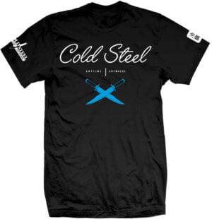 Футболка Cold Steel Cross Guard T-Shirt. Размер – XXL. Цвет – черный