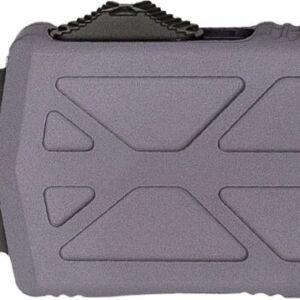 Нож Microtech Exocet Black Blade DS. Цвет: gray, серрейтор, рукоять – алюминий, покрытие – black, длина общая – 142 мм, длина клинка –  50мм, клипса