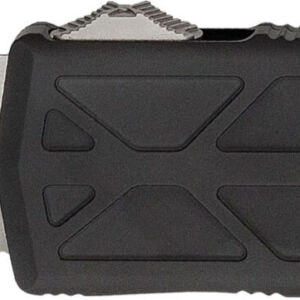 Нож Microtech Exocet Tanto Point Stonewash. Цвет: black, рукоять – алюминий, обработка клинка – stonewash, длина общая – 142 мм, длина клинка –  50мм, клипса
