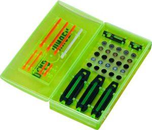 набор мушек (5 шт.) Dead Ringer Pro-Pack. 10 цветных вставок. Кейс для хранения