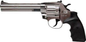 Револьвер флобера Alfa mod.461 6″ Никель. Рукоять №13. Материал рукояти – пластик