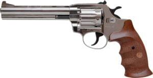 Револьвер флобера Alfa mod.461 6″ Никель. Рукоять №9. Материал рукояти – дерево