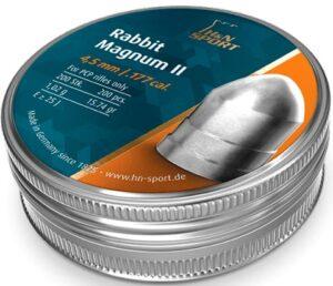 Пули пневматические H&N Rabbit Magnum II. Кал. 4.5 мм. Вес – 1.02 г. 200 шт/уп
