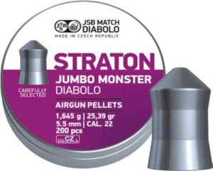 Пули пневматические JSB Diabolo Straton Jumbo Monster. Кал. 5.51 мм. Вес – 1.64 г. 200 шт/уп