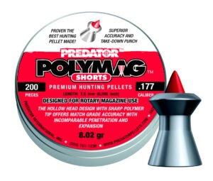 Пули пневматические JSB Polymag Shorts. Кал. 4.5 мм. Вес – 0.52 г. 200 шт/уп