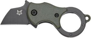 Нож Fox Mini-TA ц: олива, сталь – 1.4116 Bestar, рукоятка – FRN, обычная режущая кромка, клипса, длина клинка – 25 мм, длина общая – 80 мм