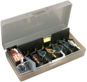 Коробка MTM Broadhead Accessory для 7 наконечников стрел и прочих комплектующих. Цвет – серый.