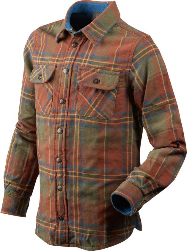 Рубашка Seeland Nolan. Размер 12. Коричневый/Зелёный