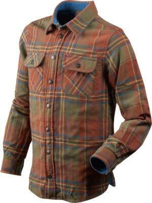 Рубашка Seeland Nolan. Размер 16. Коричневый/Зелёный
