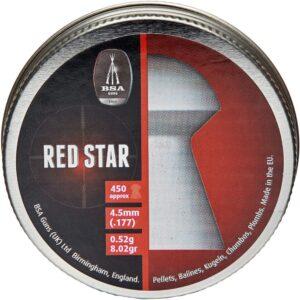 Пули пневматические BSA Red Star. Кал. 4.5 мм. Вес – 0.52 г. 450 шт/уп