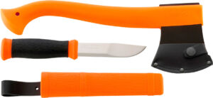 Набор Morakniv Outdoor Kit Orange, Топор Morakniv Outdoor Axe Orange и нож Morakniv Outdoor 2000 Orange