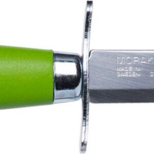 Нож Morakniv Scout 39 Safe. Цвет – зеленый, сталь – Sandvik 12C27, рукоятка – береза, обычная режущая кромка, кожаные ножны, длина клинка – 85 мм, длина общая – 178 мм.