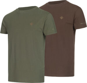 Комплект футболок Hallyard Jonas. Размер XL. Зелёный/коричневый