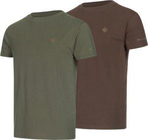 Комплект футболок Hallyard Jonas. Размер 2XL. Зелёный/коричневый