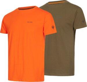 Комплект футболок Hallyard Jonas. Размер M. Оранжевый/серый