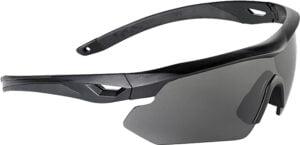 Очки баллистические Swiss Eye Nighthawk. Цвет – черный, 3 сменные линзы (прозрачный/затемненный/оранжевый), чехол из микрофибрового материала, футляр