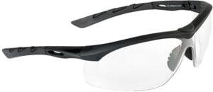 Очки баллистические Swiss Eye Lancer. Цвет – черный, прозрачные линзы, чехол из микрофибрового материала