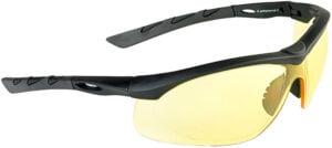 Очки баллистические Swiss Eye Lancer. Цвет – черный, желтые линзы, чехол из микрофибрового материала